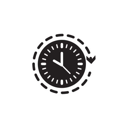 clock with arrow Stock Vector - 77322901