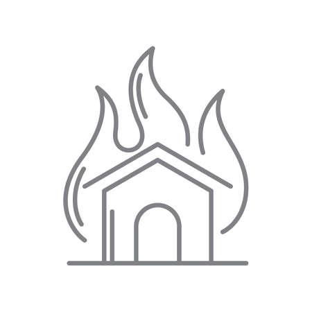 火の家 写真素材 - 77322914