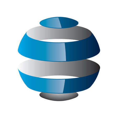 transparent globe: globe logo element design Illustration