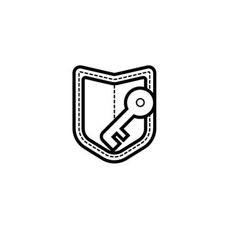 computer system protection shield symbol