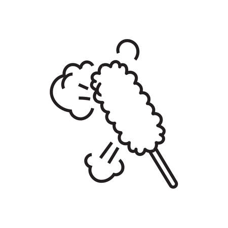 feather duster: Feather duster. Illustration