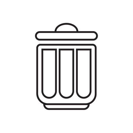 Rubbish bin. Ilustração