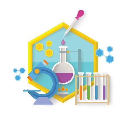 科学のコンセプト デザイン。