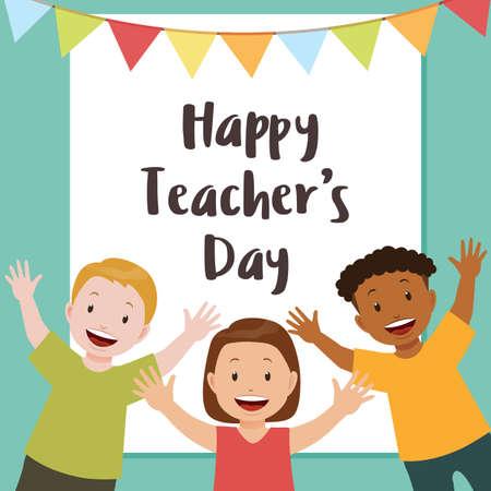 Happy teachers day design.