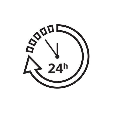 24 hours icon. Ilustrace