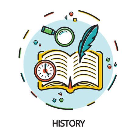 Histoire concept de conception Banque d'images - 77248179