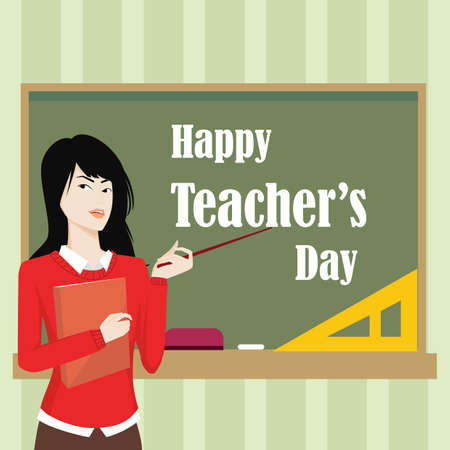 Happy teachers day design.