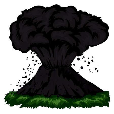 火山噴火。  イラスト・ベクター素材