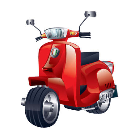 Scooter. Illustration