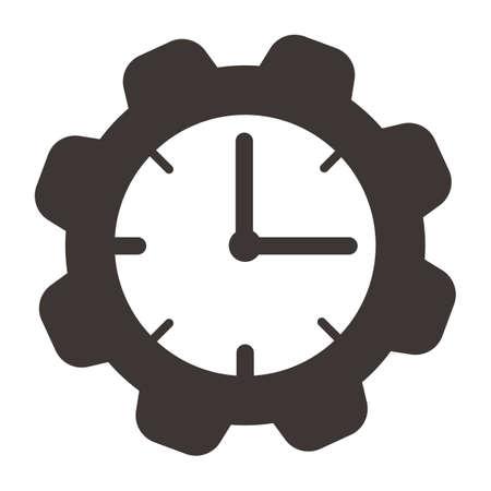Cogwheel clock. Ilustrace