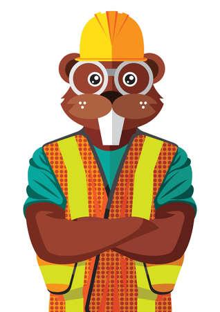 Beaver character.