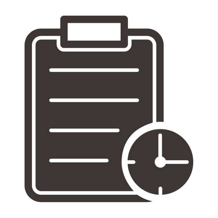 Clipboard with clock.