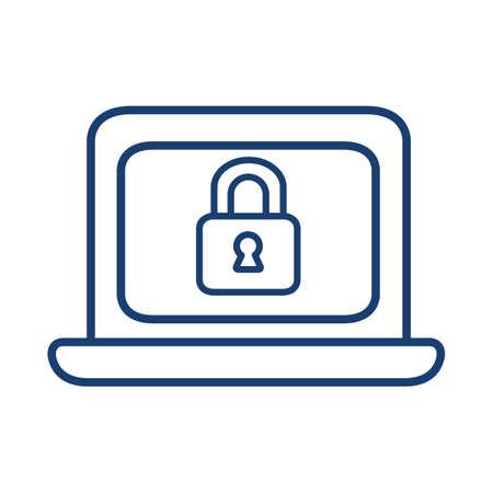 Computer security concept. Ilustração