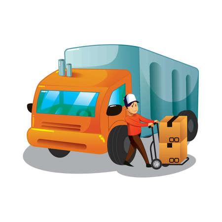 Delivery service concept. Illustration
