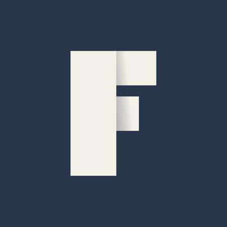 folded letter f