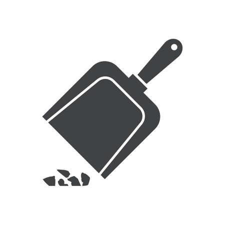 dustpan with rubbish Иллюстрация
