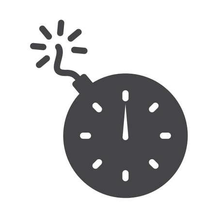 time bomb icon Stock Vector - 77246073