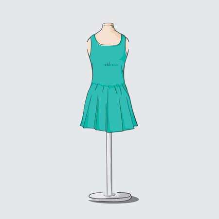 服装、衣類スタンド  イラスト・ベクター素材