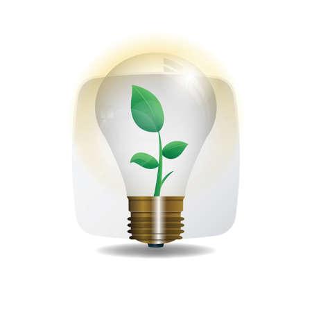 lightbulb with plant