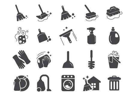 zestaw narzędzi do czyszczenia ikon
