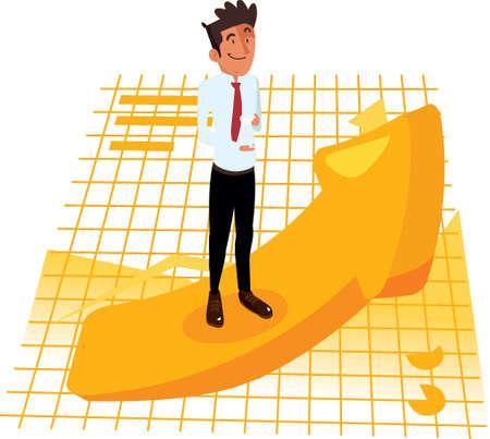 business stability concept Illusztráció