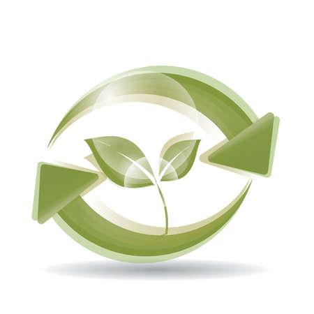 environment conservation concept Illustration