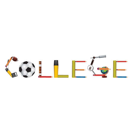 College tekst ontwerp