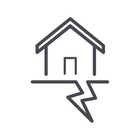 地震の概念  イラスト・ベクター素材