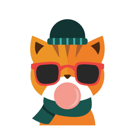 Fashionable cat