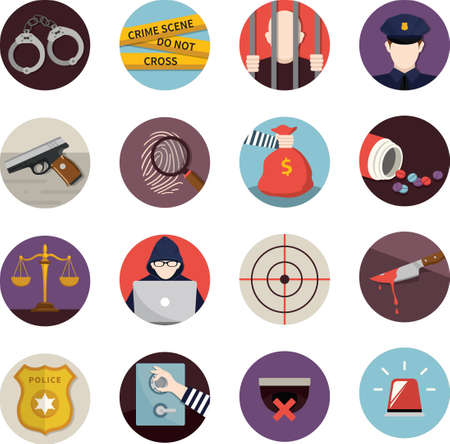 collection of crime icons