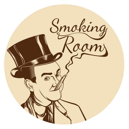 smoking room sign concept