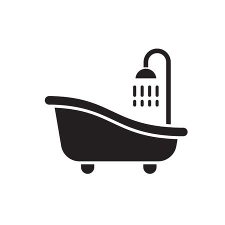 bathtub with shower Ilustrace
