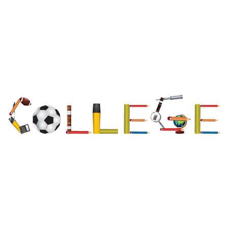 college text design