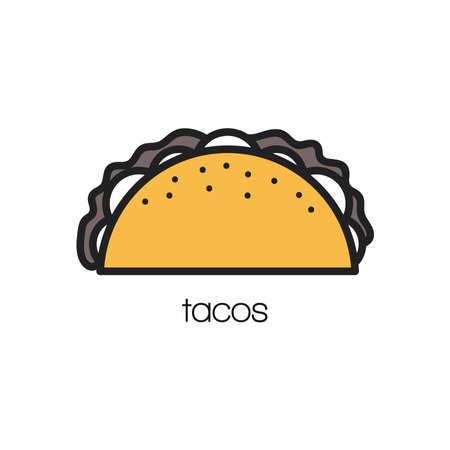 Tacos illustration. Illustration
