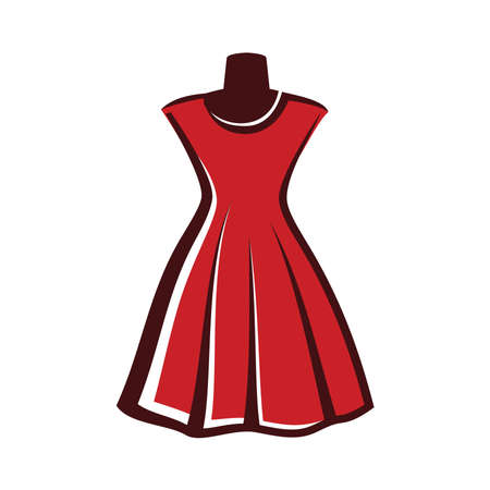 마네킹 디스플레이 드레스