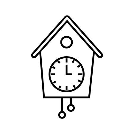 cuckoo clock icon Illustration