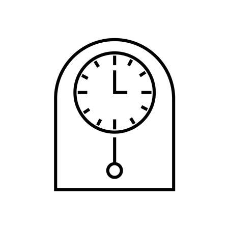 pendulum clock icon Illustration