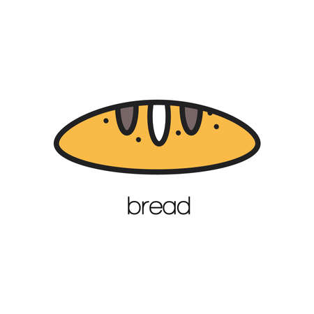 french baguette Ilustracja