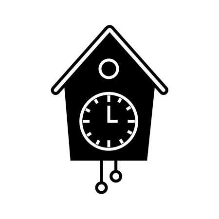 reloj cucu: Icono del reloj de cuco Vectores