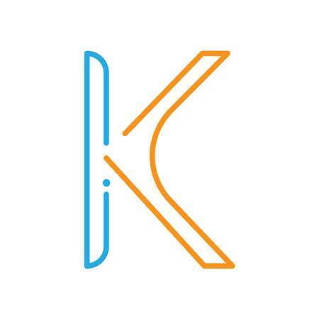 simple letter k Illustration