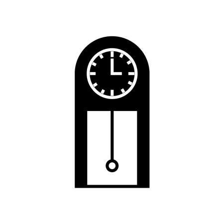 pendulum clock icon Illustration