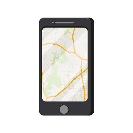gps device: mobile navigation concept Illustration