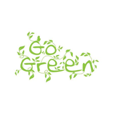 go green lettering design