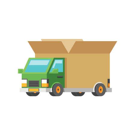 delivery truck Illusztráció