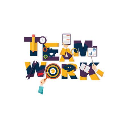 teamwork lettering design