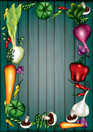 vegetables layout with copyspace Фото со стока - 77345386