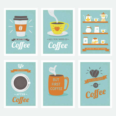 coffee poster design collection