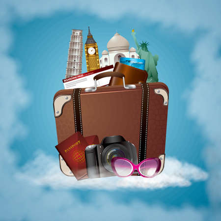leaning tower of pisa: travel concept