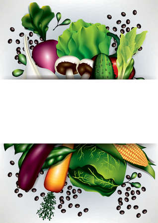 vegetables layout with copyspace Иллюстрация