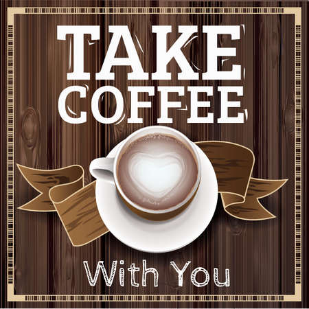 take coffee with you Illustration